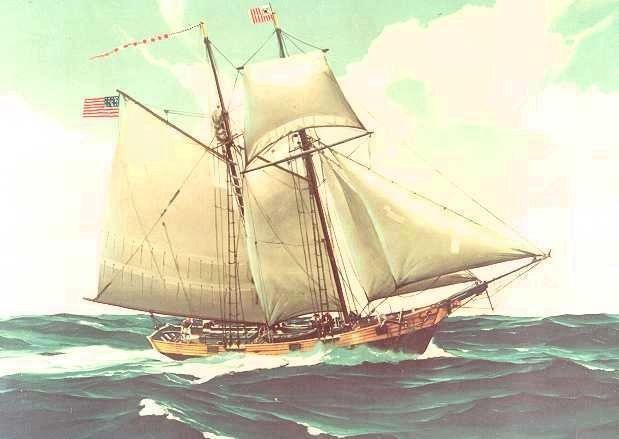 A Painting Depicting a USRC Cutter image. Click for full size.