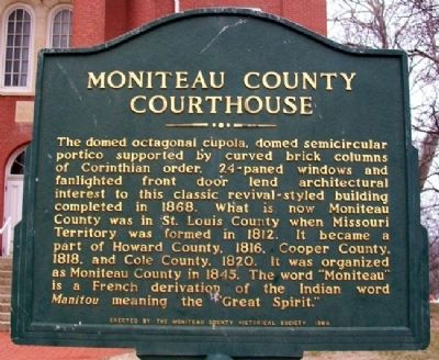 Moniteau County Courthouse Marker image. Click for full size.