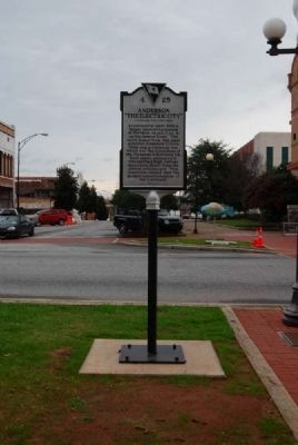 "Anderson: ""The Electric City"" Marker<br>Present Location, Reverse Photo, Click for full size"