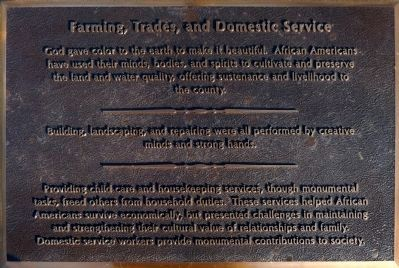 Farming,Trades, and Domestic Service image. Click for full size.