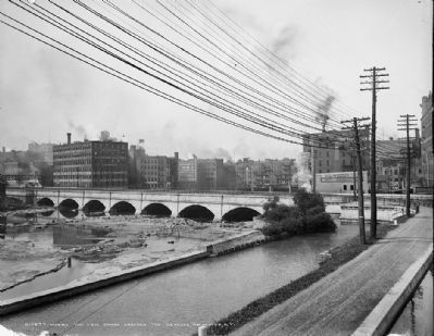 <i>Where the Erie Canal crosses the Genesee, Rochester, N.Y.</i> image. Click for full size.