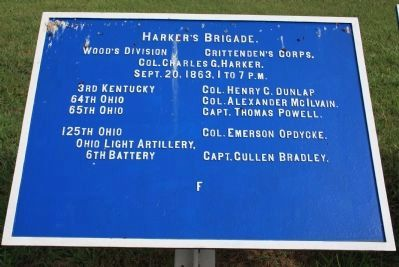 Harker's Brigade Marker image. Click for full size.