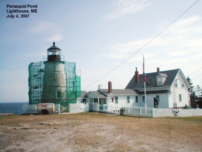 Pemaquid Point Lighthouse Marker image. Click for full size.