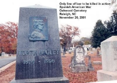 Worth Bagley headstone image. Click for full size.