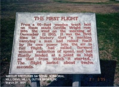 The First Flight Marker image. Click for full size.