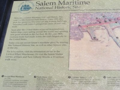 Salem Maritime National Historic Site Marker image. Click for full size.