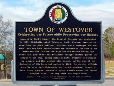 Town of Westover Marker image. Click for full size.