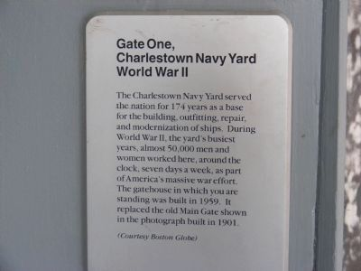 Gate One, Charlestown Navy Yard Marker image. Click for full size.