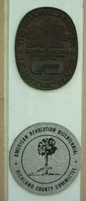 President's House National Register and American Revolution Bicentennial medallions image. Click for full size.