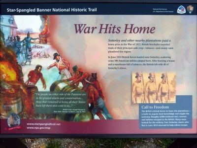War Hits Home Marker image. Click for full size.