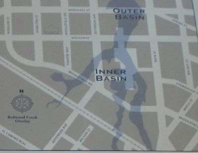 Detail from the Embarcadero Turning Basin Site Marker image. Click for full size.
