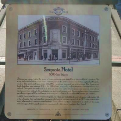 The Sequoia Hotel Marker image. Click for full size.