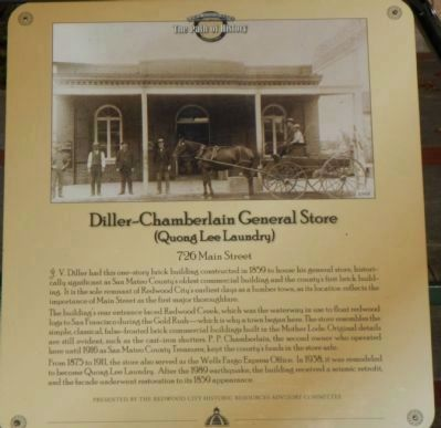 Diller-Chamberlain General Store (Quong Lee Laundry) Marker image. Click for full size.