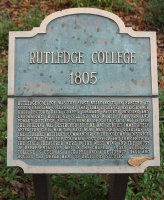 Rutledge College Marker image. Click for full size.