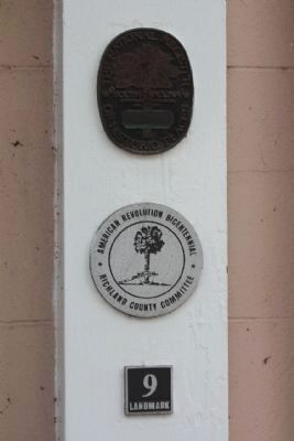 Rutledge College National Register, American Revolution Bicentennial Landmark 9 Medallions image. Click for full size.