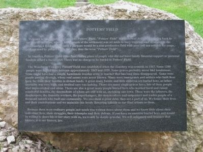 Potters' Field Marker Photo, Click for full size