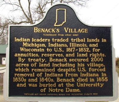 Benack's Village Marker (Back) Photo, Click for full size