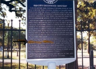 Old City Greenwood Cemetery Marker image. Click for full size.