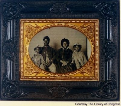 USCT Trooper and His Family Photo, Click for full size