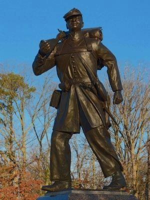 Gary Casteel's USCT statue image. Click for full size.