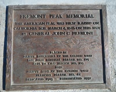 Fremont Peak Memorial Marker Photo, Click for full size