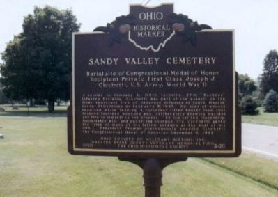 Sandy Valley Cemetery Marker image. Click for full size.