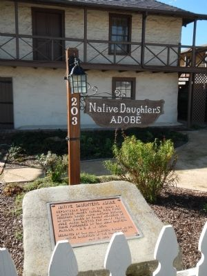 Native Daughters Adobe Marker Photo, Click for full size