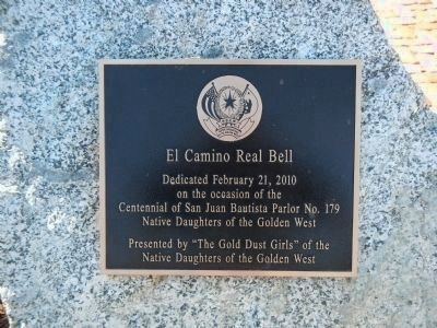 El Camino Real Bell Plaque Photo, Click for full size