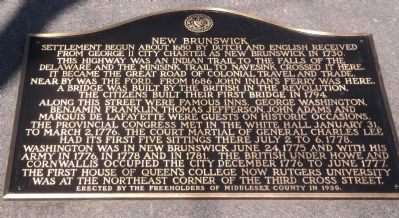 New Brunswick Marker image. Click for full size.