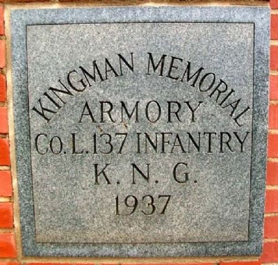 Kingman Memorial Armory Cornerstone image. Click for full size.
