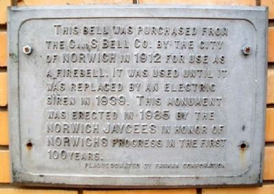 City of Norwich Fire Bell Marker image. Click for full size.