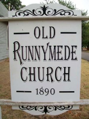 Old Runnymede Church Sign image. Click for full size.