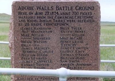 Adobe Walls Battle Ground Marker image. Click for full size.
