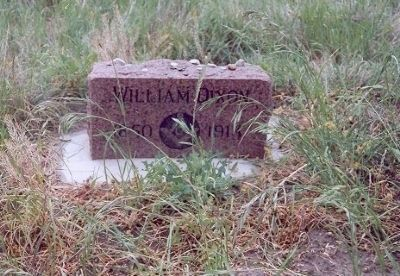 A private headstone marker for William Dixon. image. Click for full size.