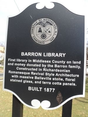 Barron Library Marker image. Click for full size.