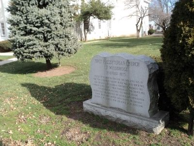 First Presbyterian Church of Woodbridge Marker image. Click for full size.