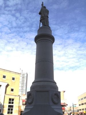 New Brunswick Civil War Monument (Rear View) image. Click for full size.