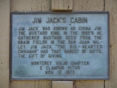 Jim Jack�s Cabin Marker Photo, Click for full size