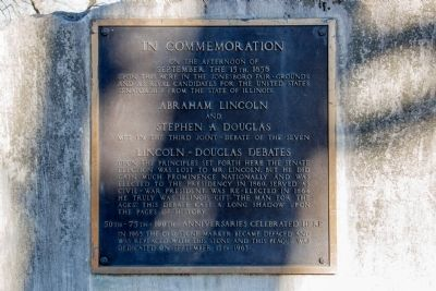 Lincoln-Douglas Debates Marker Photo, Click for full size