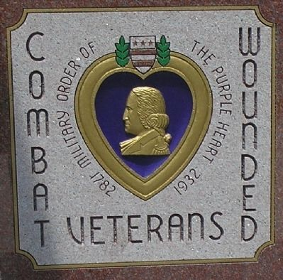 Purple Heart Memorial Detail Photo, Click for full size