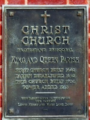 Christ Church Plaque Photo, Click for full size