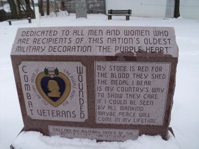 Purple Heart Memorial Marker Photo, Click for full size