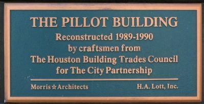 Pillot Building Plaque image. Click for full size.