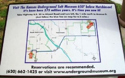 Map to Kansas Underground Salt Museum Marker Photo, Click for full size