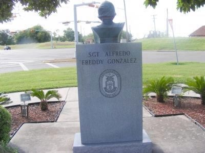Sgt. Alfredo Freddy Gonzales Memorial (rear) image. Click for full size.