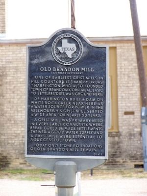Old Brandon Mill Marker Photo, Click for full size