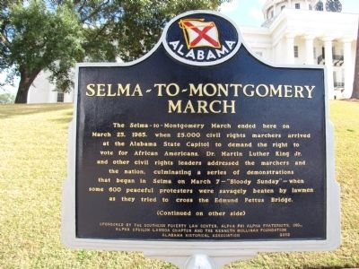 Selma-to-Montgomery March Marker Photo, Click for full size