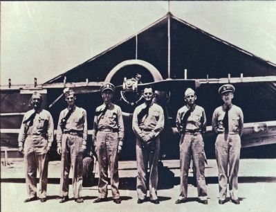 First officers at Patuxent River Naval Air Station, World War II era. image. Click for full size.