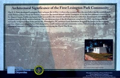 Architectural Significance of the First Lexington Park Community Marker image. Click for full size.