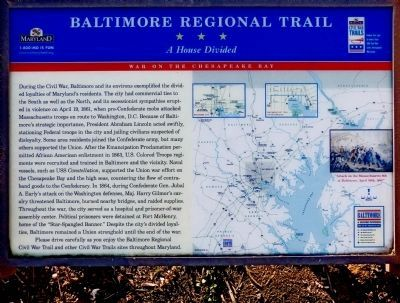 Baltimore Regional Trail Marker image. Click for full size.